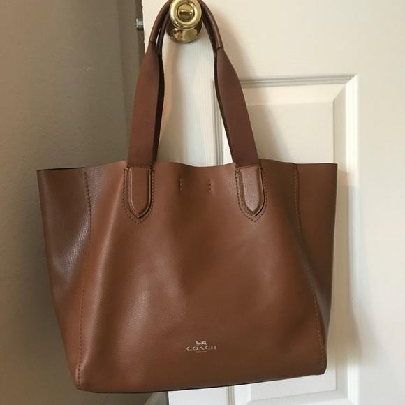 94758821332e Coach Handbags - NEW Coach Derby Tote Saddle Pebble Leather
